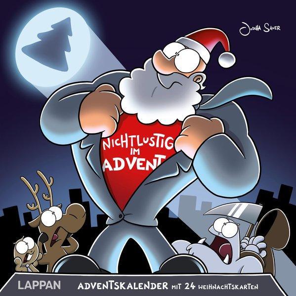 Nichtlustig im Advent - 24 Cartoon-Weihnachtskarten! (Mängelexemplar)