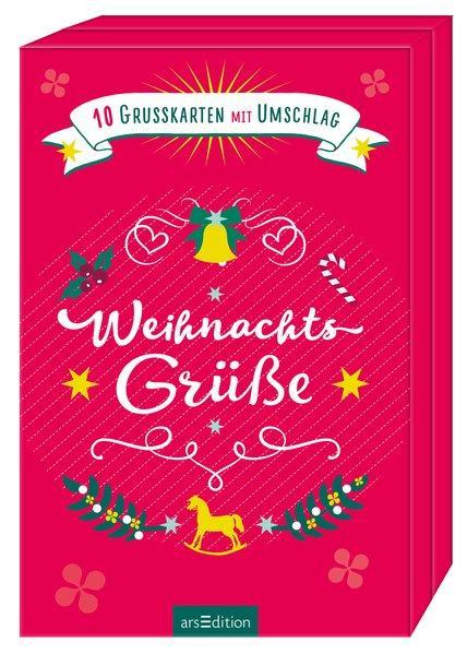 Weihnachtsgrüße - 10 Grußkarten mit Umschlag
