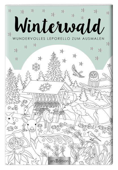 Winterwald - Zauberhaftes Leporello zum Ausmalen
