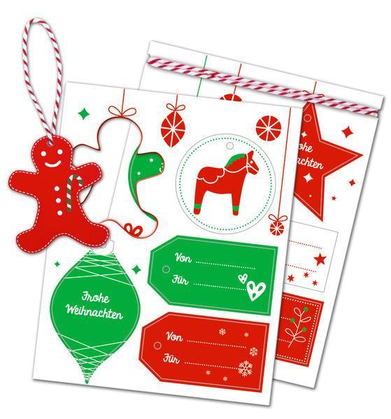 10 weihnachtliche Geschenkanhänger