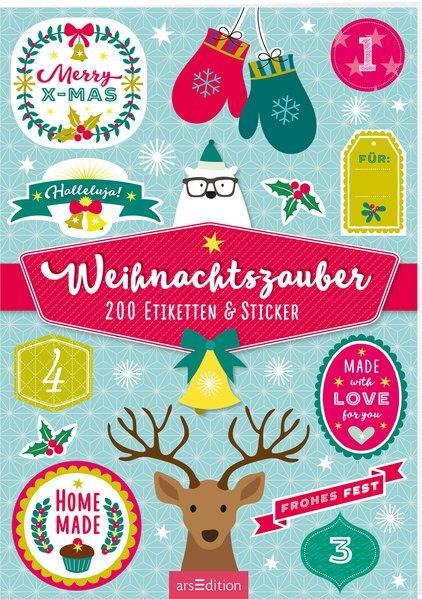 Weihnachtszauber - 200 Etiketten & Sticker