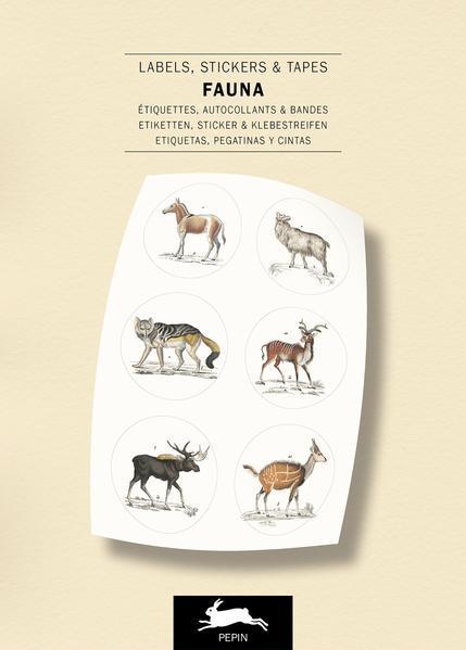 Fauna - Label and Sticker Book (Mängelexemplar)