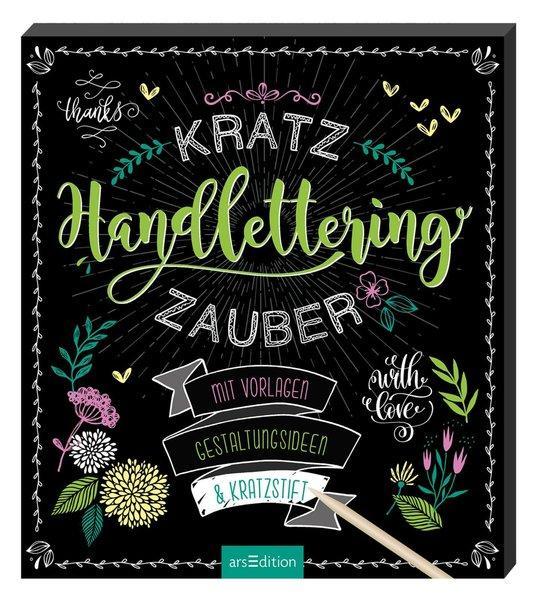 Kratzzauber Handlettering - Mit Vorlagen, Gestaltungsideen & Kratzstift (Mängelexemplar)