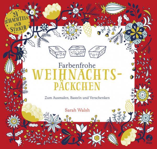 Farbenfrohe Weihnachtspäckchen - Zum Ausmalen, Basteln und Verschenken (Mängelexemplar)
