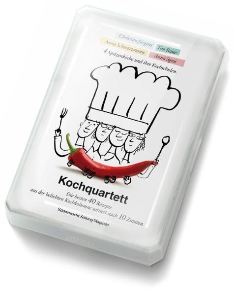 XXL Kochquartett - 40 hochwertige Rezeptkarten in einer Kartenbox