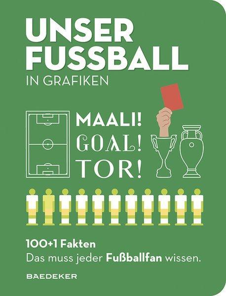 UNSER FUSSBALL in Grafiken - Baedekers 100+1 Fakten.(Mängelexemplar)