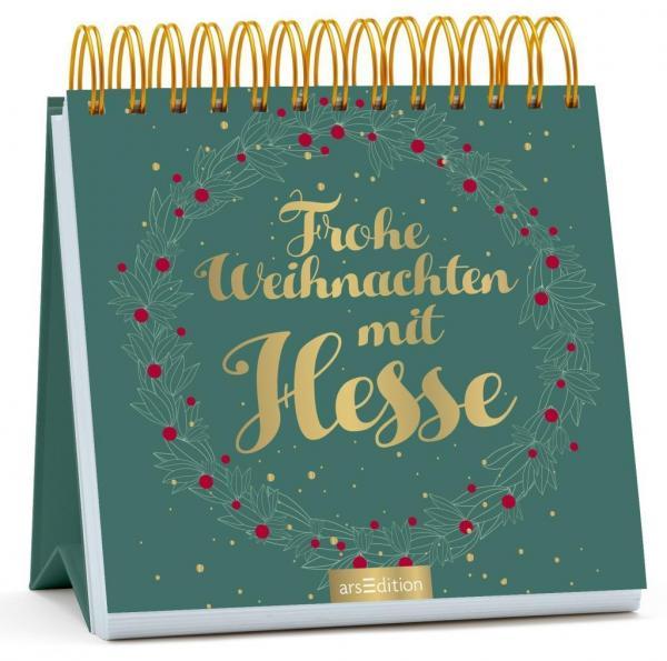 Frohe Weihnachten mit Hesse - Spiralaufsteller