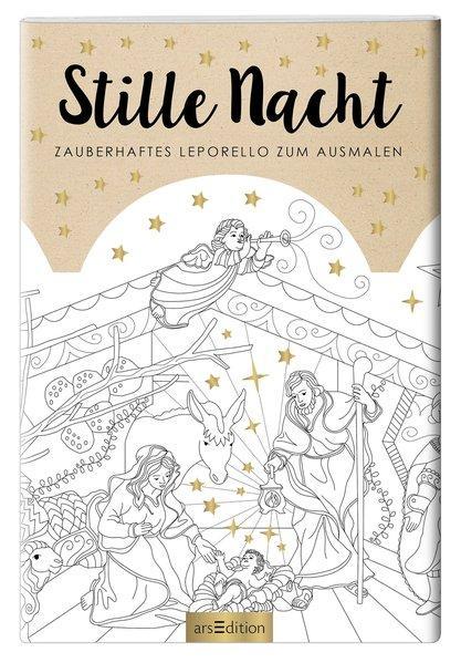 Stille Nacht - Zauberhaftes Leporello zum Ausmalen